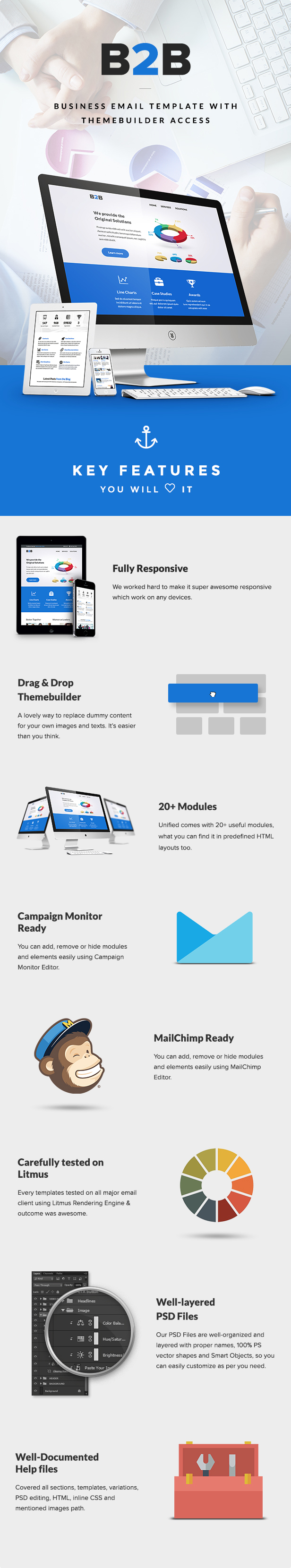 B2B - Business Email Template + Builder Access