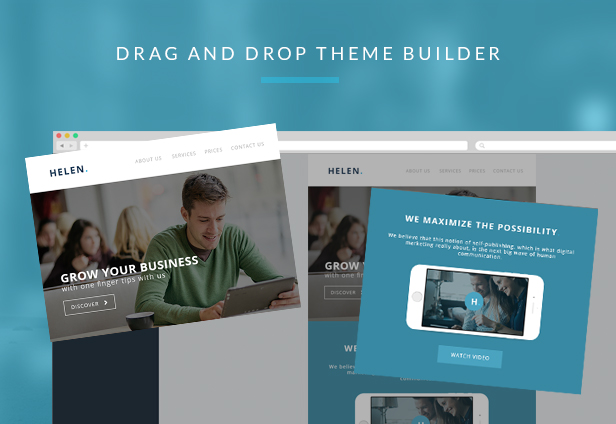Helen - Corporate Email Templates + Builder Access