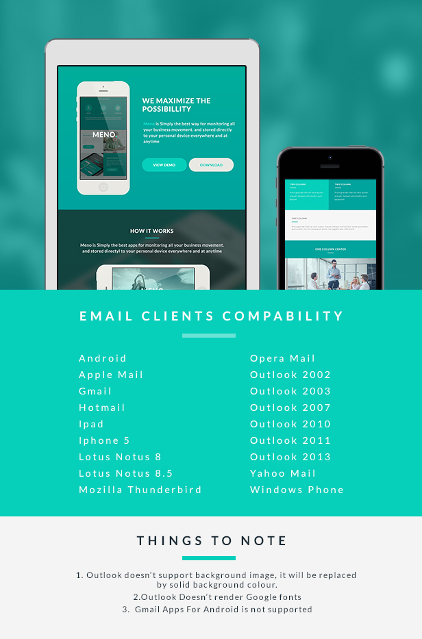 Corporate Email Template - Meno + Builder Access