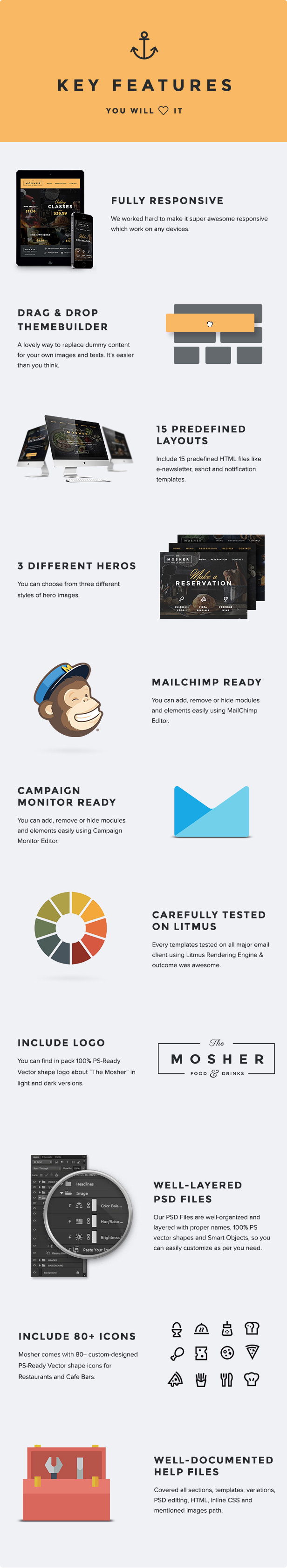 Mosher - Promotional Email Pack + Builder Access