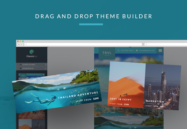 Travel & Hotel Responsive Newsletter + Online Builder Access