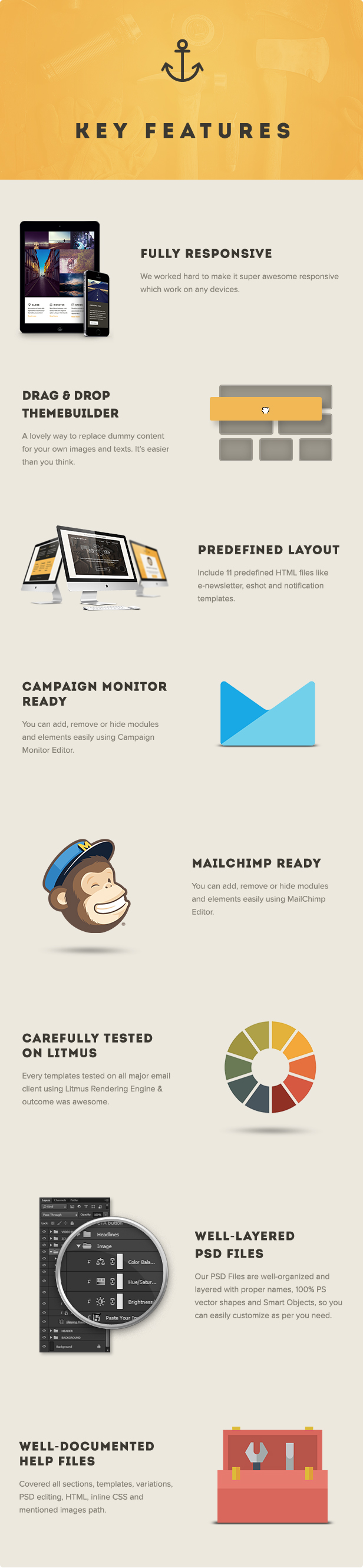Craftsman - Set of 11 Multipurpose Email Templates
