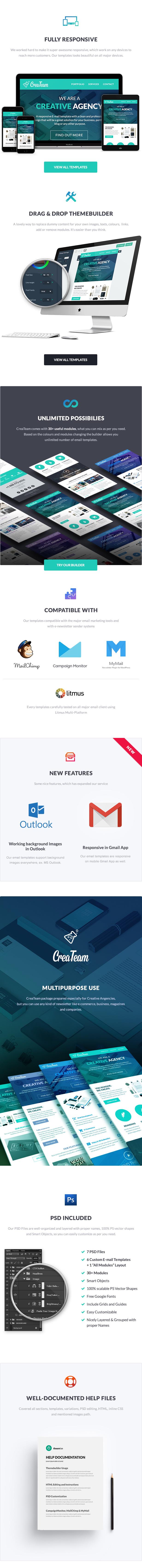 CreaTeam - Multipurpose Agency E-newsletter Template