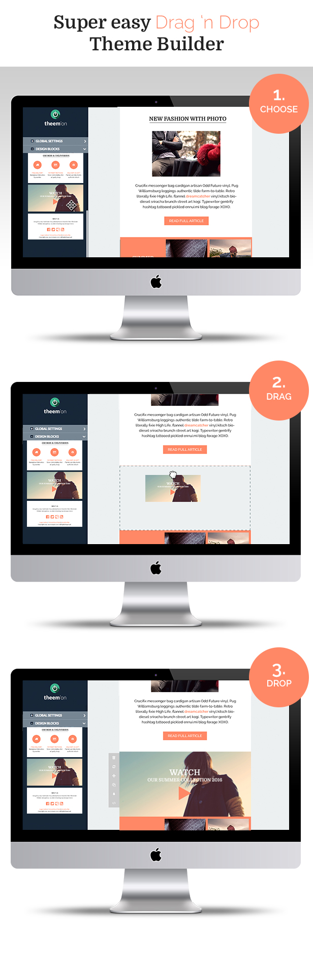 Promotional Responsive Email Template + Builder Access
